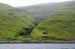 Lonely house on Faroe Islands Stock Photos