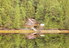 Lonely house in the forest. Royalty Free Stock Photos