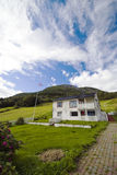 Lonely house on hill,Norway Stock Photo