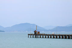 Lonely house in sea Stock Image