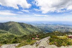 Lonely house in the Sierra Maestra mountains in Cuba stock images
