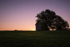 Lonely House in Sunrise Stock Photography