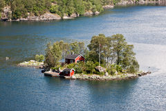 Lonely hut, Norway. Stock Images