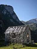 Lonely hut ruins Royalty Free Stock Image