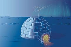 Lonely igloo at the North Pole Royalty Free Stock Photography