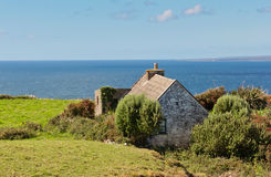 Lonely irish house in Doolin Royalty Free Stock Image