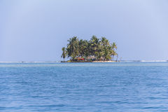 Lonely Island in the caribbean, San Blas Islands Royalty Free Stock Images
