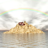 Lonely Island. Digital Illustration of a lonely Island Royalty Free Stock Photos
