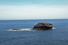 Lonely island. A small lonely island in the Balearic Sea Royalty Free Stock Images