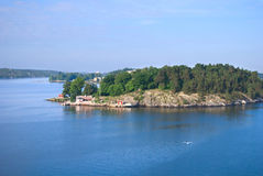 Lonely island in Stockholm Archipelago Stock Photos