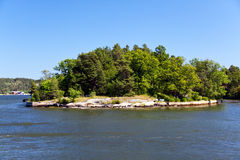 Lonely island in Sweden,Stockholm Archipelago Royalty Free Stock Images