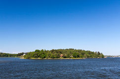 Lonely island in Sweden,Stockholm Archipelago Stock Photography
