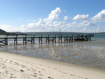 Lonely Jetty. Jetty in Langebaan Lagoon, Western Cape, South Africa Stock Images