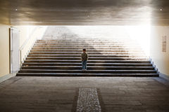 Lonely kid Stock Photography