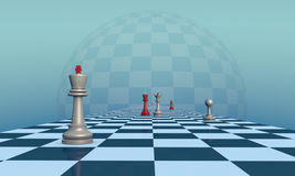 Lonely King (chess metaphor) Stock Photos