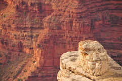 Lonely ledge in a deep canyon Stock Image