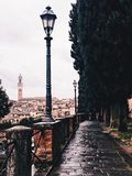 Lonely lights. Views from Siena Royalty Free Stock Photography