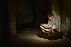Lonely little boy Royalty Free Stock Images