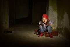 Lonely little girl Royalty Free Stock Photos
