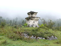 Lonely little stupa in Manaslu valley - Nepal Stock Photography