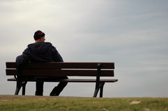 The lonely man Stock Image