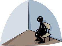 Lonely man illustration Stock Image