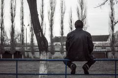 Lonely man Stock Image