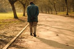 The loneliness of a man. royalty free stock photography