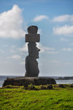 Lonely moai, Ahu Tahai, Easter Island, Chile Stock Photography