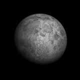 Lonely Moon. A beautiful and highly detailed 5000x5000 render of the Moon Royalty Free Stock Images