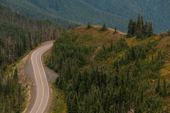 Lonely mountain curvy road Royalty Free Stock Photography