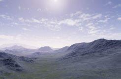 The lonely mountains. 3d generated landscape as background: The lonely mountains Royalty Free Stock Images
