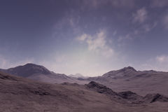 The lonely mountains. 3d generated landscape as background: The lonely mountains Royalty Free Stock Photos