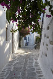 Lonely Mykonos. White everything in Greece, and that there is not exception in Mykonos, Greece Royalty Free Stock Photo