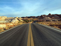 Lonely Nevada Highway Stock Photography