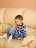 Lonely nice kid Stock Photo