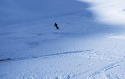 Lonely off piste skier Stock Image
