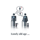 Lonely old age Stock Images