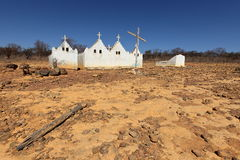Lonely old cemetery in the Caatinga of Brazil. A Lonely old cemetery in the Caatinga of Brazil Stock Photo