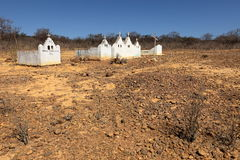 Lonely old cemetery in the Caatinga of Brazil. A Lonely old cemetery in the Caatinga of Brazil Stock Photography