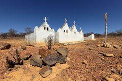 Lonely old cemetery in the Caatinga of Brazil. A Lonely old cemetery in the Caatinga of Brazil Stock Images