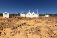 Lonely old cemetery in the Caatinga of Brazil. A Lonely old cemetery in the Caatinga of Brazil Royalty Free Stock Image