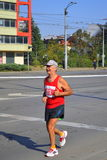 Lonely old long-distance runner Royalty Free Stock Photography