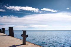 Lonely Old Pier Royalty Free Stock Photos