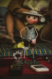 Lonely old toy. Old toy on sales in the old market Royalty Free Stock Image