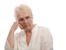 Lonely old woman Stock Photos