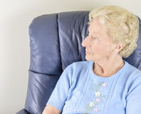 Lonely Old Woman Stock Photography