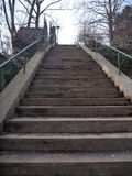 Lonely park stairway in a winter time Stock Image