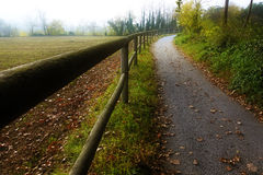 Lonely path in autumn Stock Images