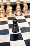 Lonely Pawn Royalty Free Stock Photo